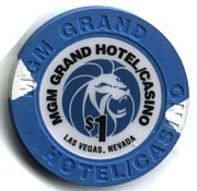 MGM Hotel One Dollar Chip. - Product Image