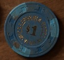 California Hotel/Casino One Dollar Chip. - Product Image