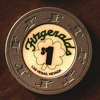 """Fitzgerald""""s Casino One Dollar Chip - Product Image"""