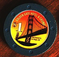 Golden Gate Hotel One Dollar Chip. - Product Image