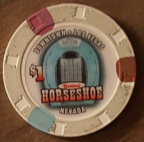Horseshoe Hotel One Dollar Chip. - Product Image