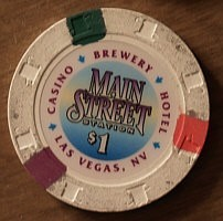 Main Street Casino One Dollar Chip. - Product Image