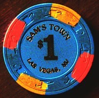 Sam's Town One Dollar Chip. - Product Image
