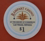 Rampart Casino One Dollar Chip. - Product Image