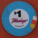Flamingo Hotel One Dollar Chip Number 2 - Product Image