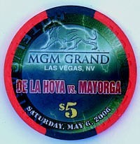 MGM Grand Casino Five Dollar Chip - Product Image