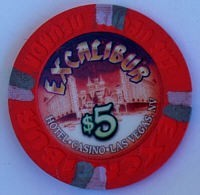 Excalibur Casino Five Dollar Chip - Product Image