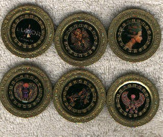 Luxor Hotel/Casino collectible tokens(6) - Product Image