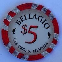 Bellagio Casino Five Dollar Chip - Product Image