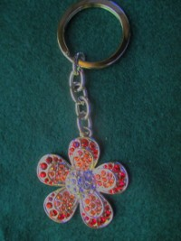 Bling Flower Key Chain  - Product Image