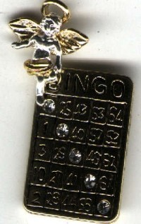 Lucky Bingo Angel Pin - Product Image