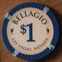 Bellagio One Dollar Chip. - Product Image