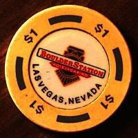 Boulder Station Casino One Dollar Chip. - Product Image
