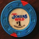 Joker's Wild Casino One Dollar Chip. - Product Image