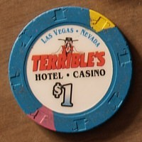 Terrible's Casino One Dollar chip. - Product Image