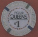 Four Queens Hotel One Dollar Chip. - Product Image