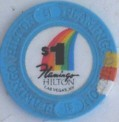 Flamingo Hotel One Dollar Chip Number 3 - Product Image