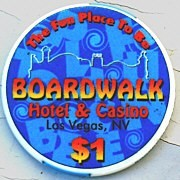 Boardwalk Hotel/Casino One Dollar Chip. - Product Image