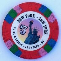 NewYork NewYork Casino Five Dollar Chip. - Product Image