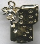 Lucky Craps Angel Pin - Product Image
